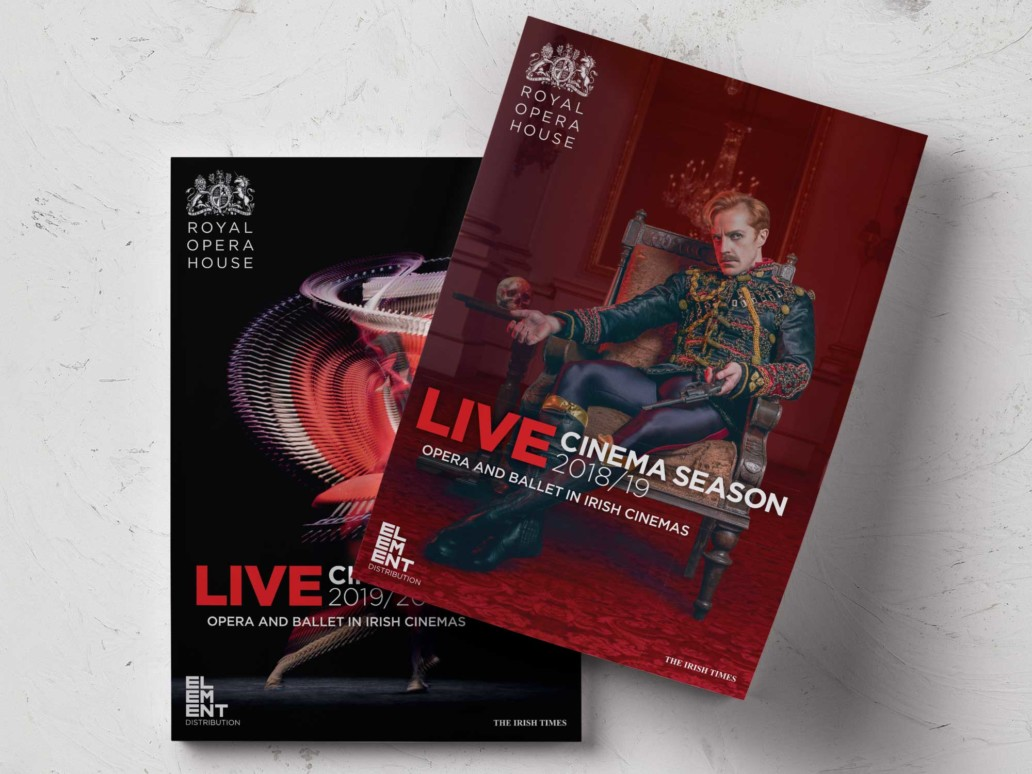 Front covers of the Royal Opera House Brochures for 2018 and 2019